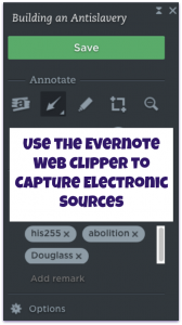 Use Evernote Web Clipper to Capture Electronic Sources