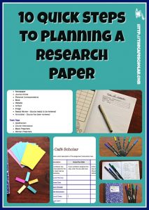 10 Quick Steps to Planning a Research Paper