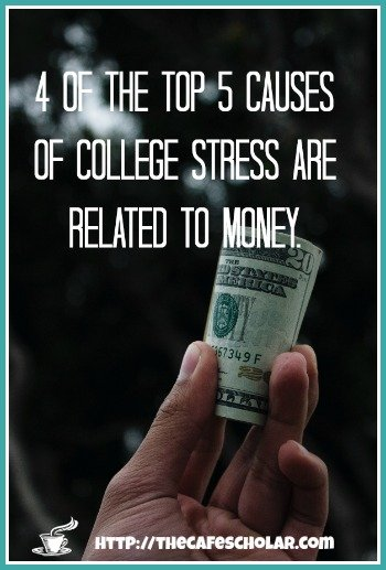 Money is one of the biggest causes of stress for college students & grad students. | https://thecafescholar.com