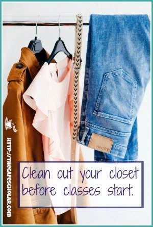 Cleaning out your closet before school starts will help prevent back-to-school stress. | https://thecafescholar.com