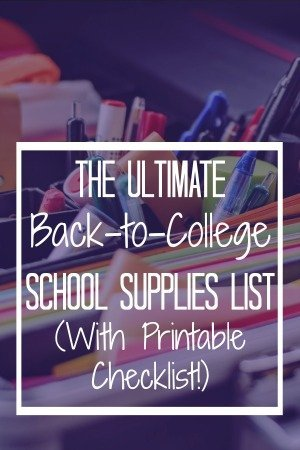 I'm (always!) so excited to shop for school supplies for college! Check out the ultimate list of college school supplies (with FREE printable checklist!) | www.thecafescholar.com