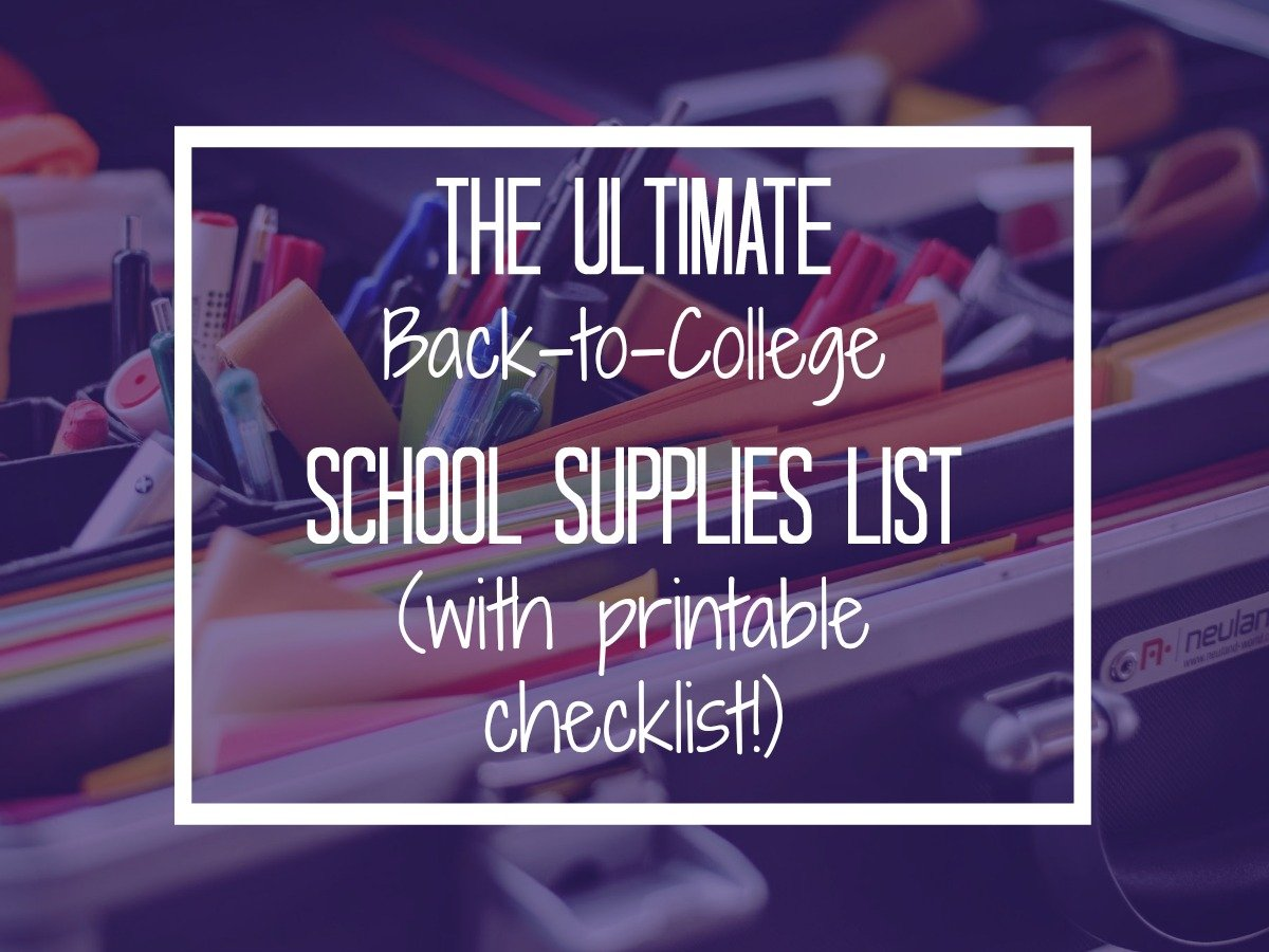 All the school supplies you need to go back to college this semester! | http://thecafescholar.com