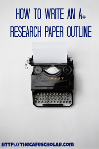 A good research paper outline is key to writing an A+ paper. | http://thecafescholar.com
