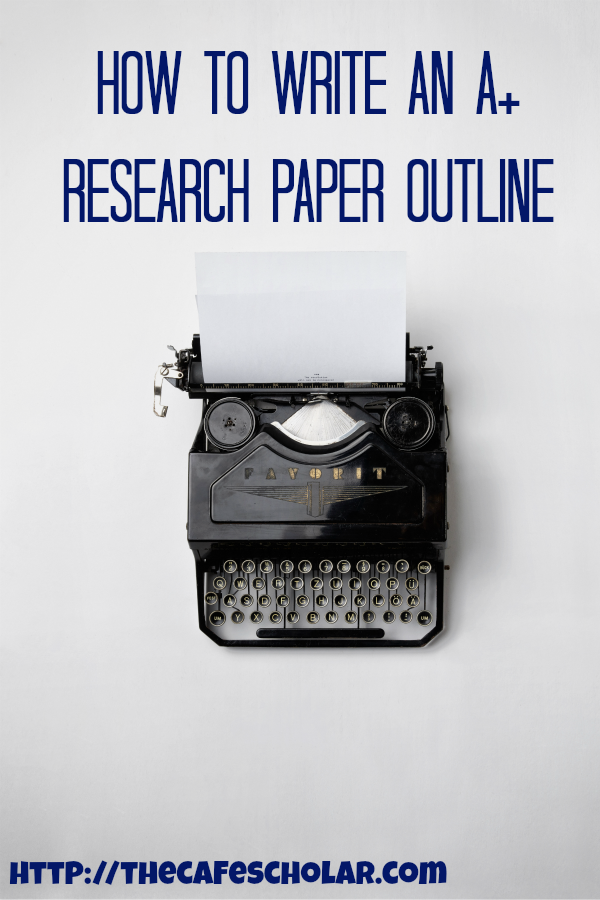 A good research paper outline is key to writing an A+ paper. | https://thecafescholar.com
