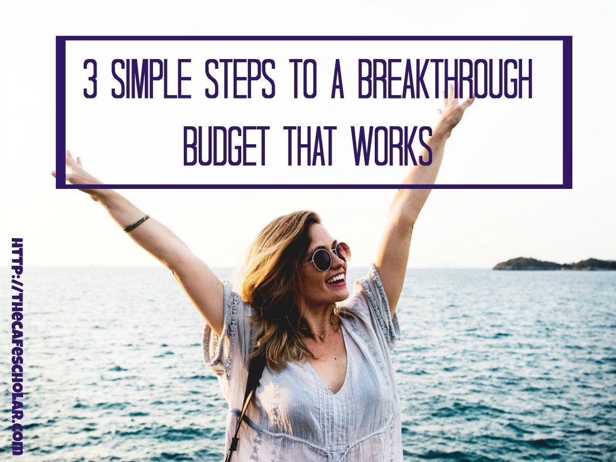 I tend to set budgets that don't work...I go from one extreme to the other. Here are 3 simple steps for a budget that works! 90 Day Budget Boot Camp Challenge | http://thecafescholar.com
