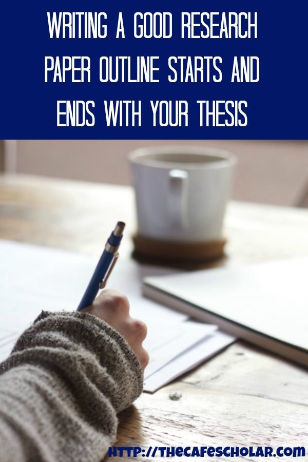 Writing a good research paper outline starts and ends with your thesis. | https://thecafescholar.com