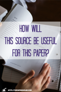 Evaluate the source: what is the usefulness of this source for this paper or project? | https://thecafescholar.com