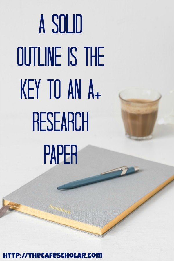 Yep - that means you should spend a lot of quality time working on your research paper outline - maybe even more time than writing the paper itself! | https://thecafescholar.com