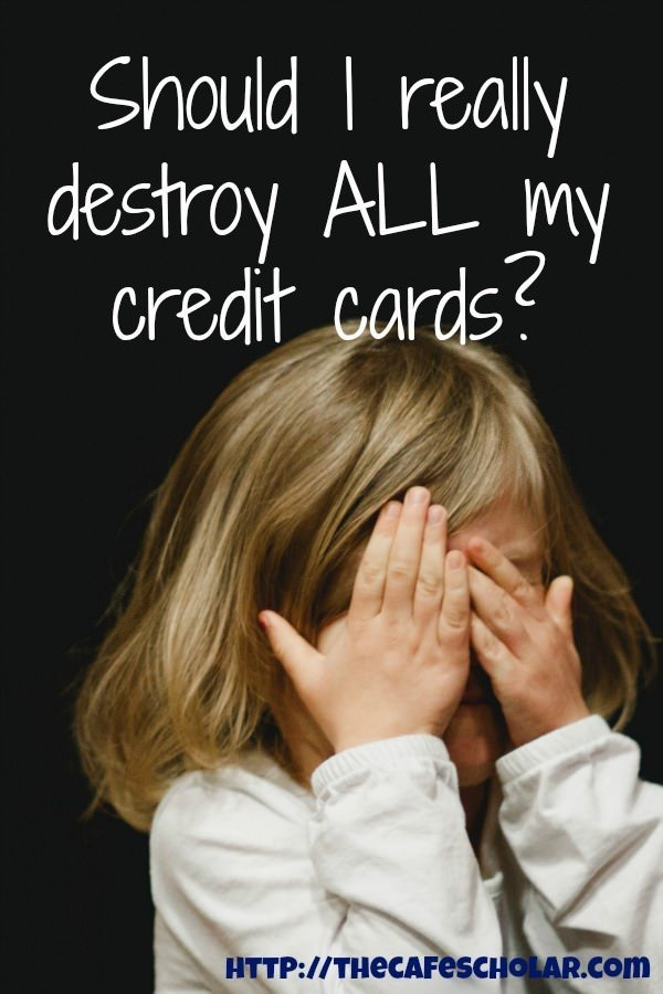 Yes - I did. Destroy 12 credit cards. On Facebook Live. Will you do it next? | https://thecafescholar.com