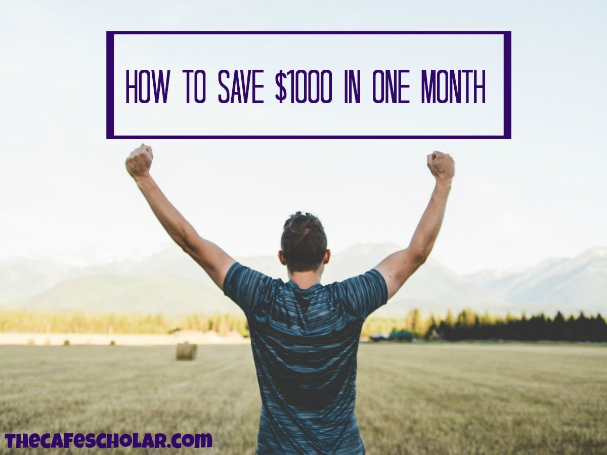 Baby Step 1: Save $1000 as Fast as Possible! | thecafescholar.com