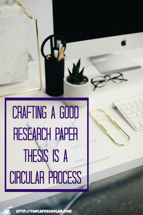 You will touch your research paper thesis several times: while writing your proposal, in the outline, after the outline, and on each draft. | thecafescholar.com