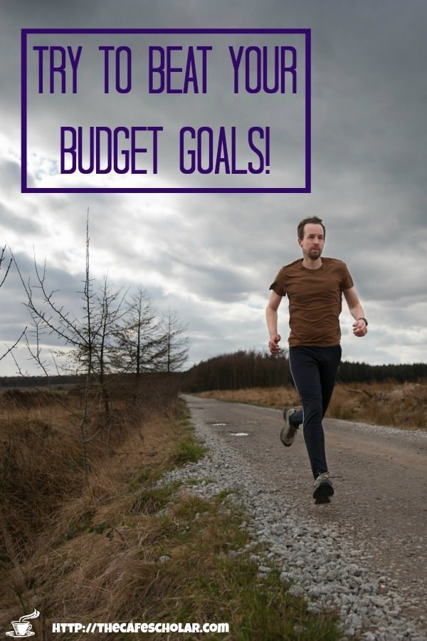 Baby Step 1: Save $1000 by racing against yourself and trying to beat your budget goals! | thecafescholar.com