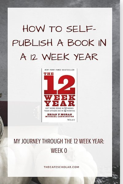 My Journey through Brian Moran's The 12 Week Year while self-publishing my first book. Week 0. - https://www.thecafescholar.com