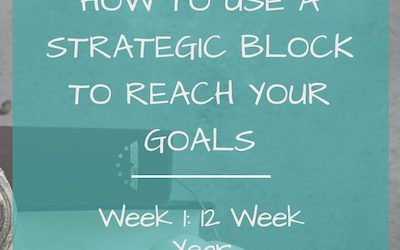 How to Use a Strategic Block to Reach Your Goals