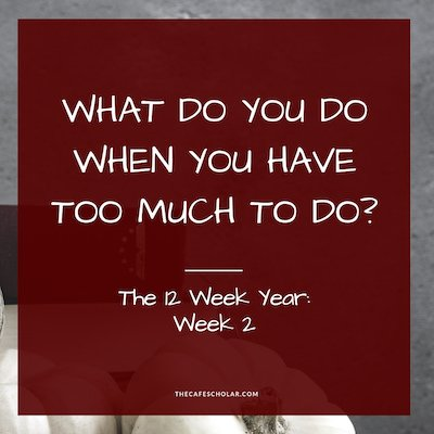 What do you do when you have TOO MUCH to do? My journey through the 12 Week Year - Week 2 #12weekyear #productivity #self-publishing - https://www.thecafescholar.com
